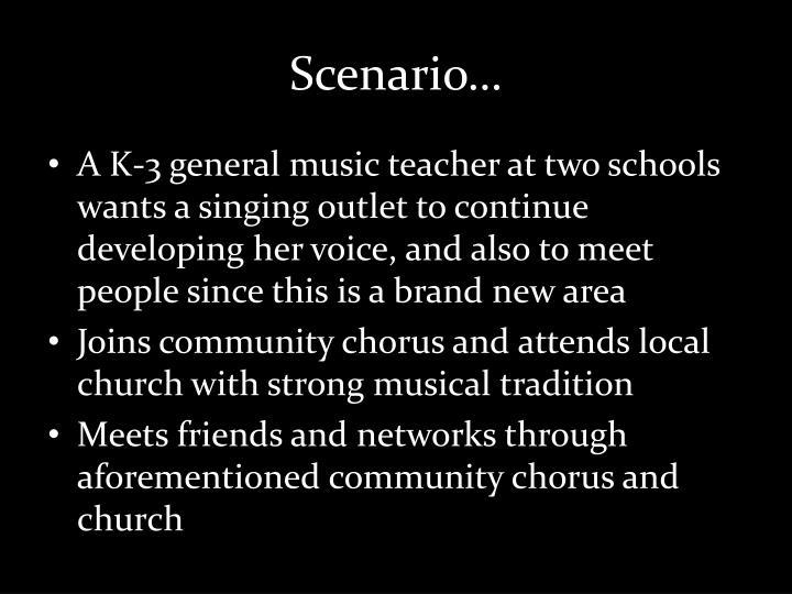 Scenario…