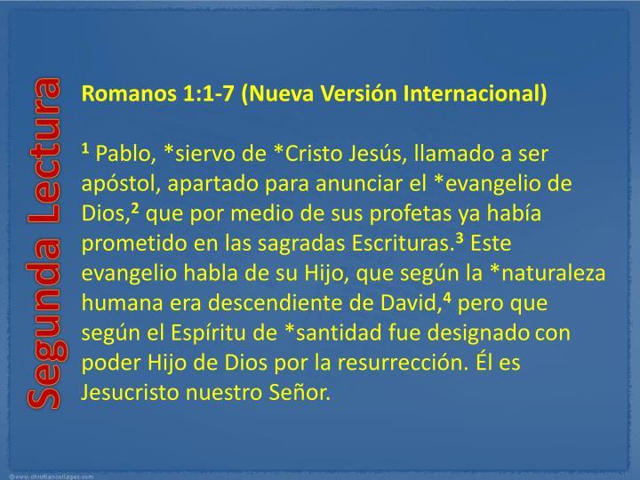 Romanos 1:1-7(Nueva Versión Internacional