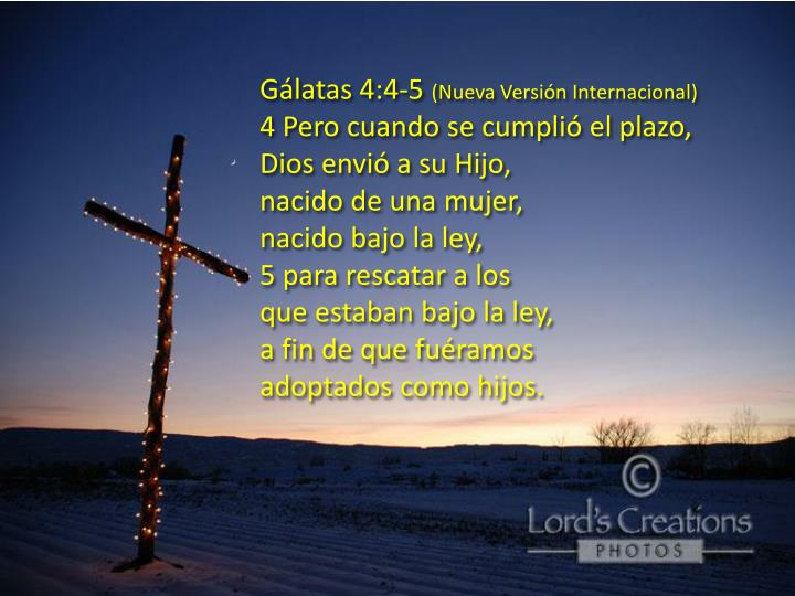Gálatas 4:4-5