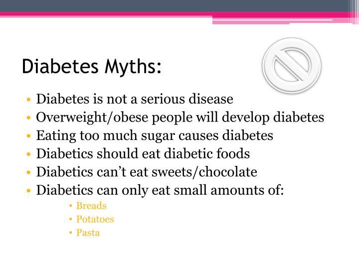 Diabetes Myths:
