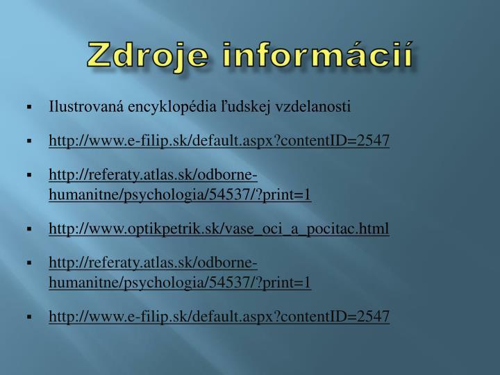 Zdroje informácií