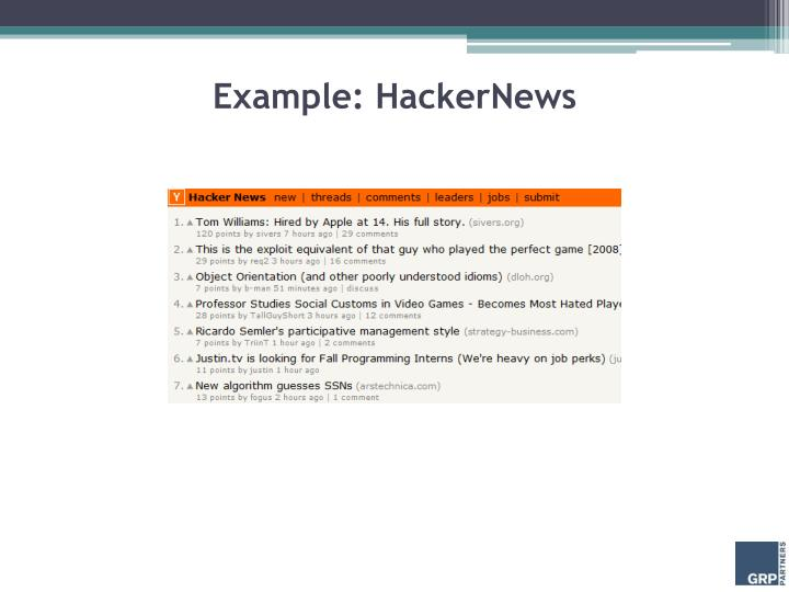 Example: HackerNews