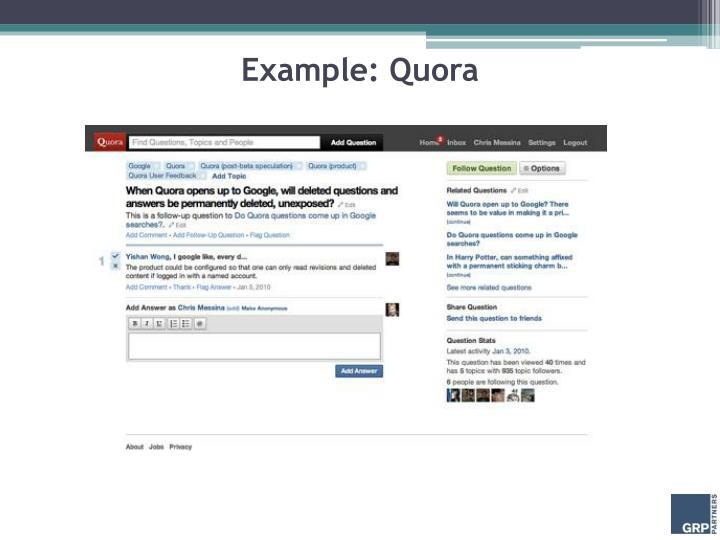 Example: Quora