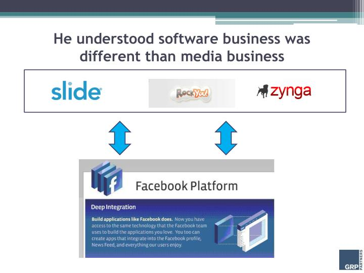 He understood software business was different than media business