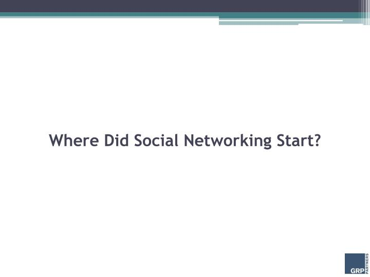 Where Did Social Networking Start?