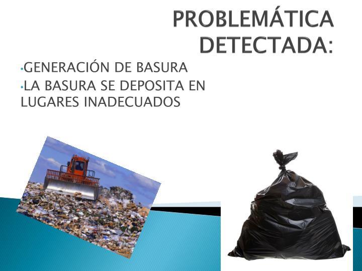 PROBLEMÁTICA DETECTADA: