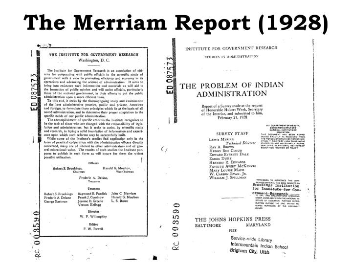 The merriam report 1928
