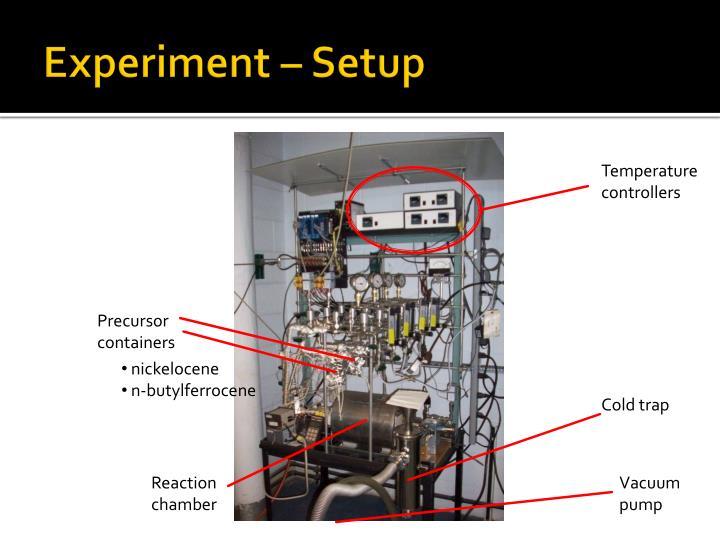 Experiment – Setup