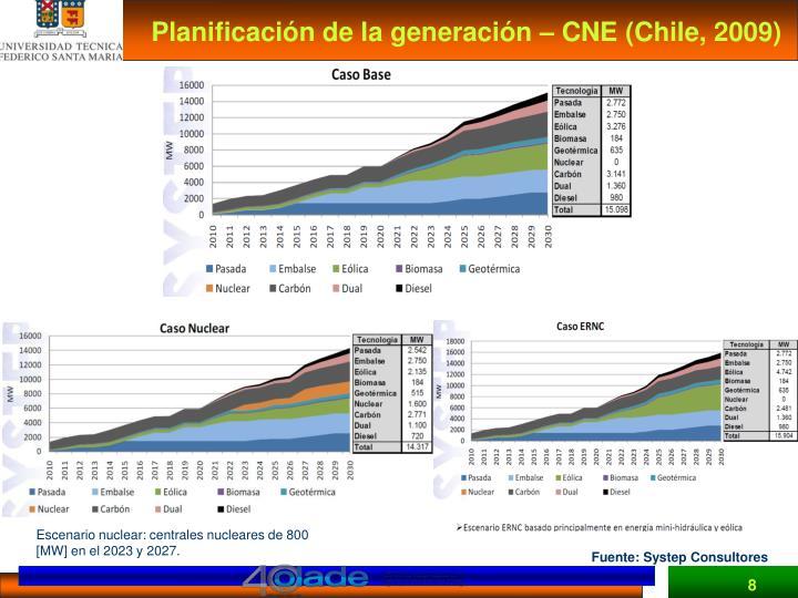 Planificación de la generación – CNE (Chile, 2009)