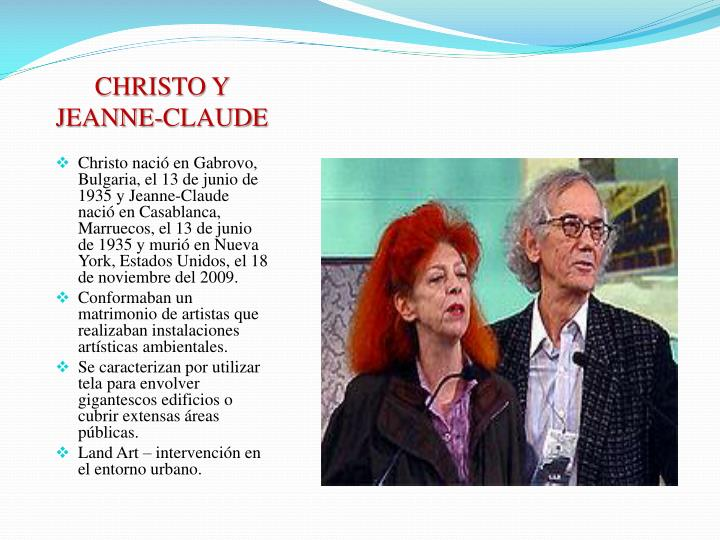 CHRISTO Y JEANNE-CLAUDE