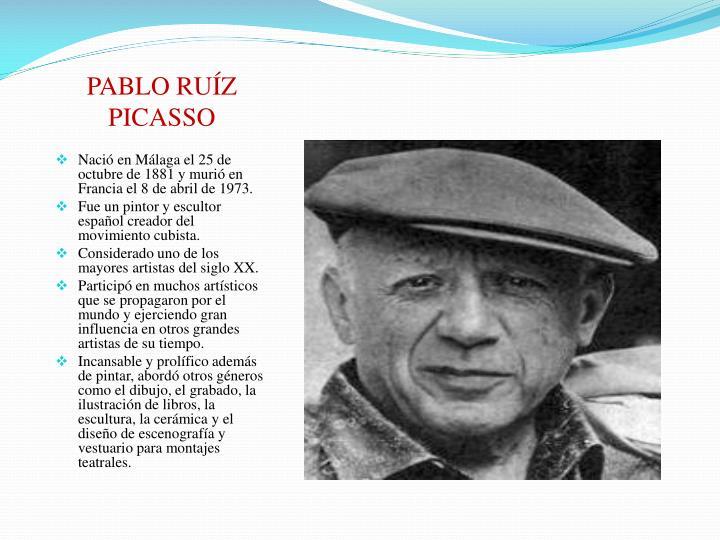PABLO RUÍZ PICASSO