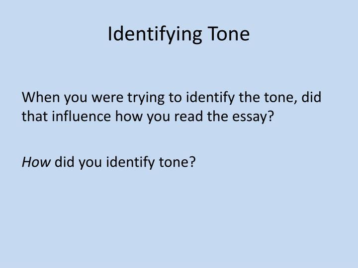 Identifying Tone