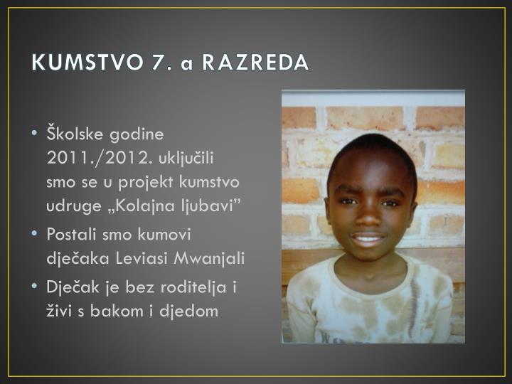 KUMSTVO 7. a RAZREDA