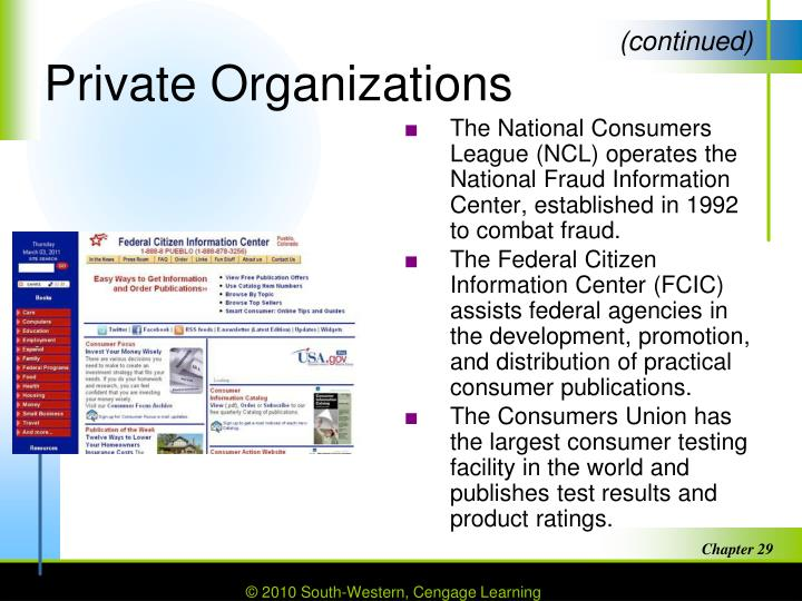 Private Organizations