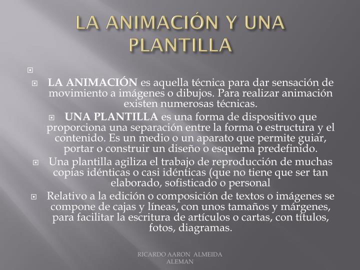 La animación Y