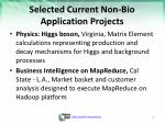 selected current non bio application projects