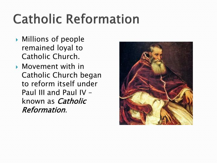 catholic reformation ushered an era of