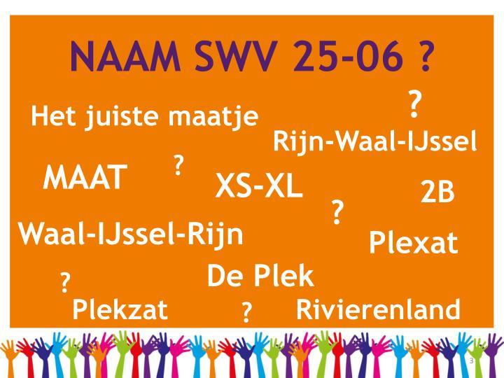 NAAM SWV 25-06 ?