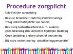 procedure zorgplicht
