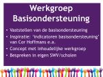werkgroep basisondersteuning1