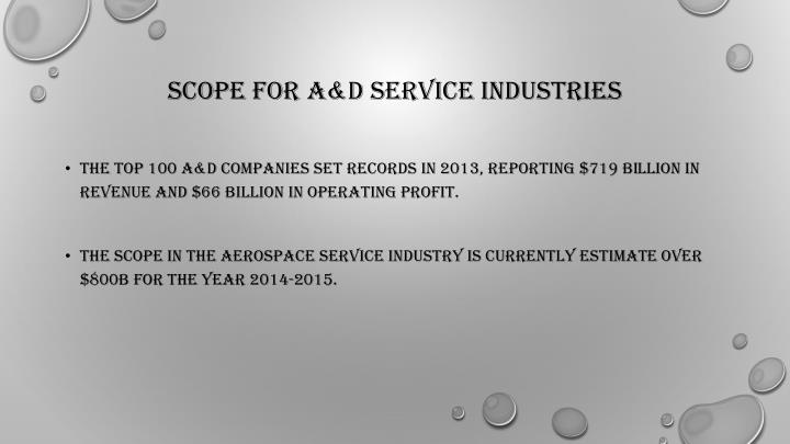 Scope for A&D Service Industries