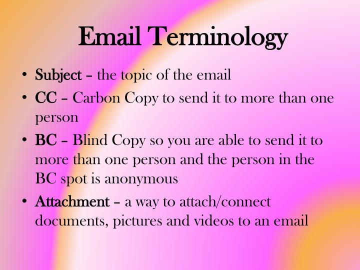 Email Terminology