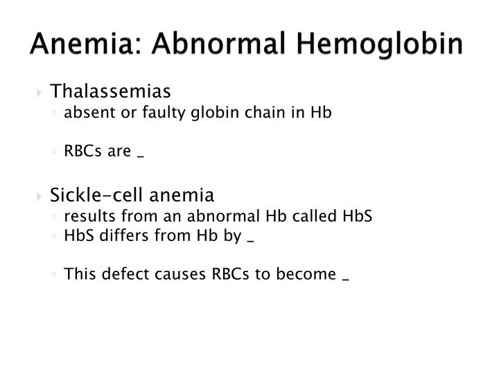 Anemia: Abnormal Hemoglobin