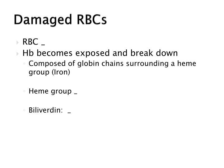 Damaged RBCs