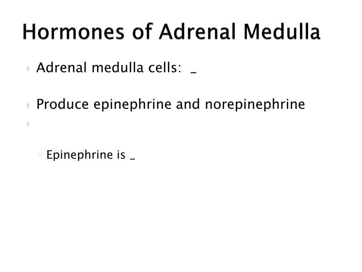 Hormones of Adrenal Medulla
