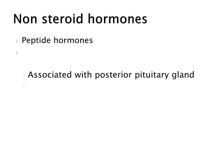 Non steroid hormones