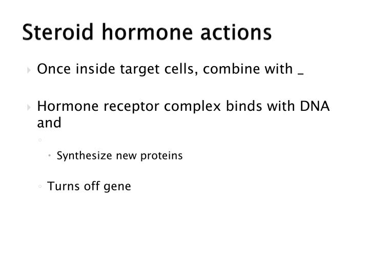 Steroid hormone actions