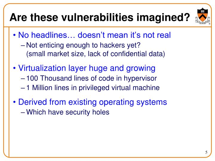 Are these vulnerabilities imagined?