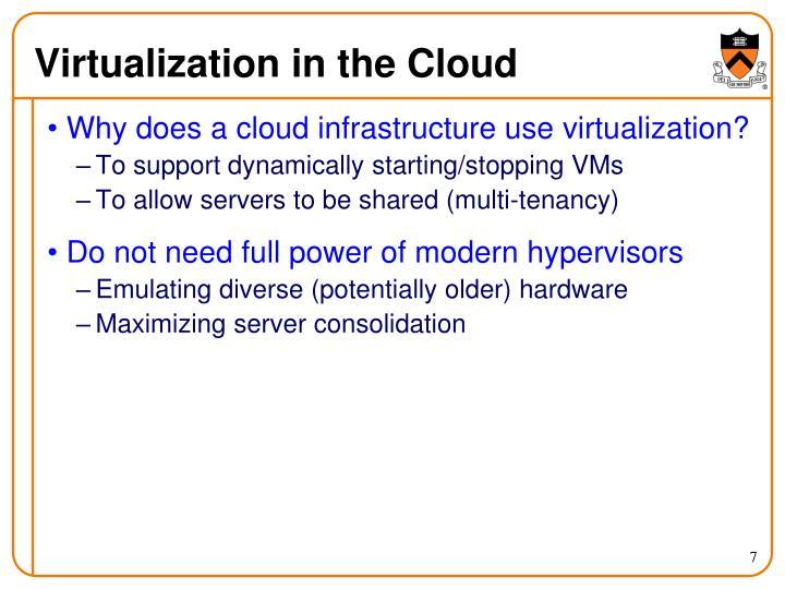 Virtualization in the Cloud