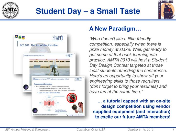 Student Day – a Small Taste
