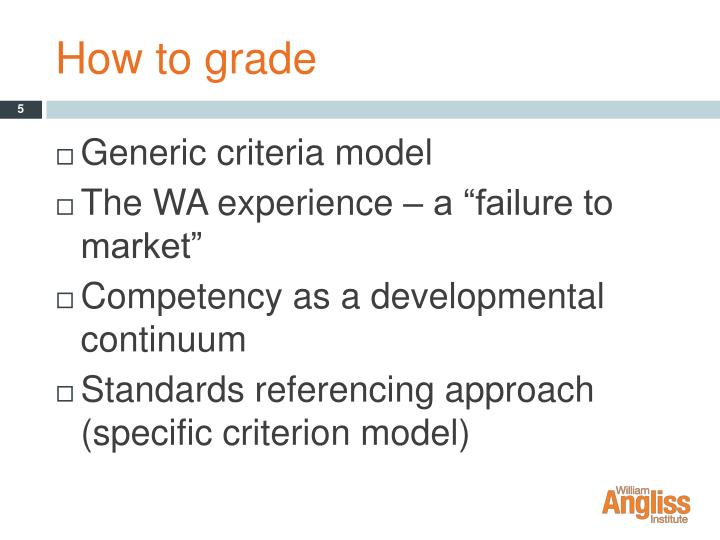 How to grade
