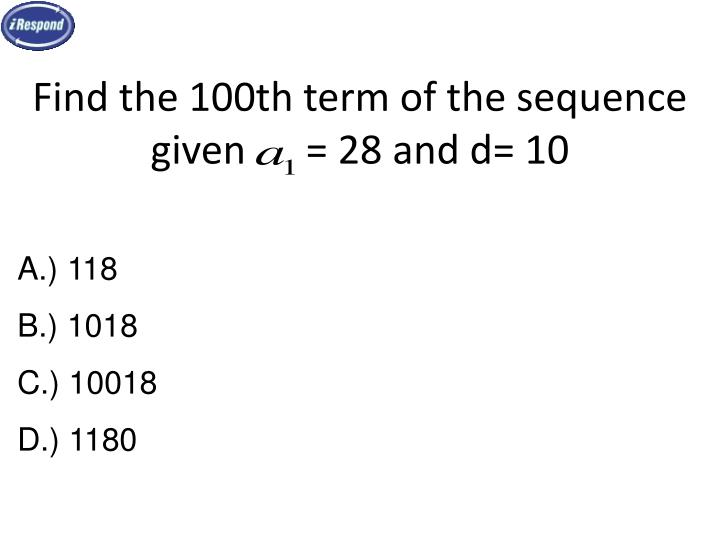 Find the 100th term of the sequence given