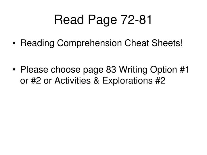 Read Page 72-81