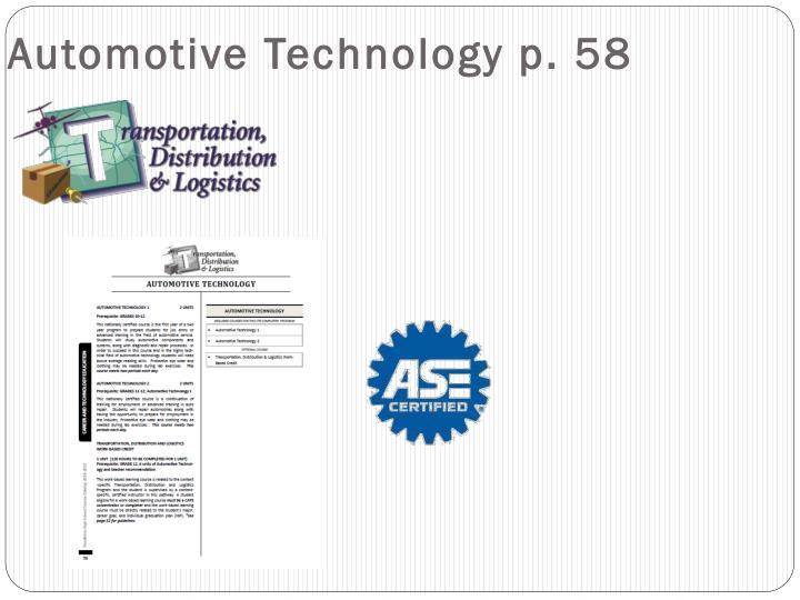 Automotive Technology p. 58