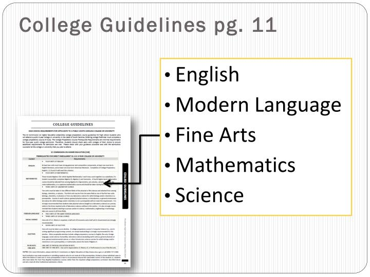 College Guidelines pg. 11