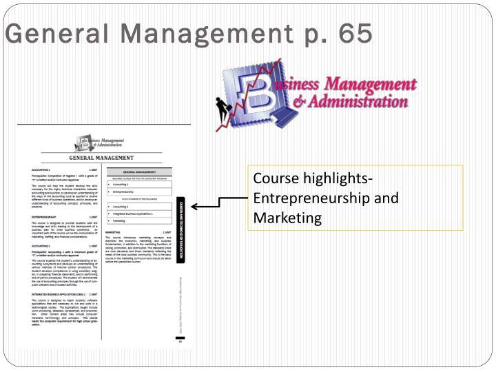 General Management p. 65