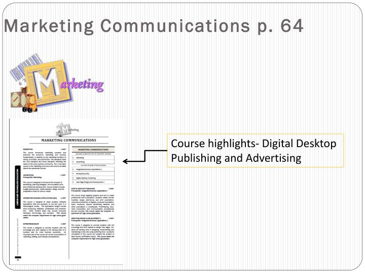 Marketing Communications p. 64
