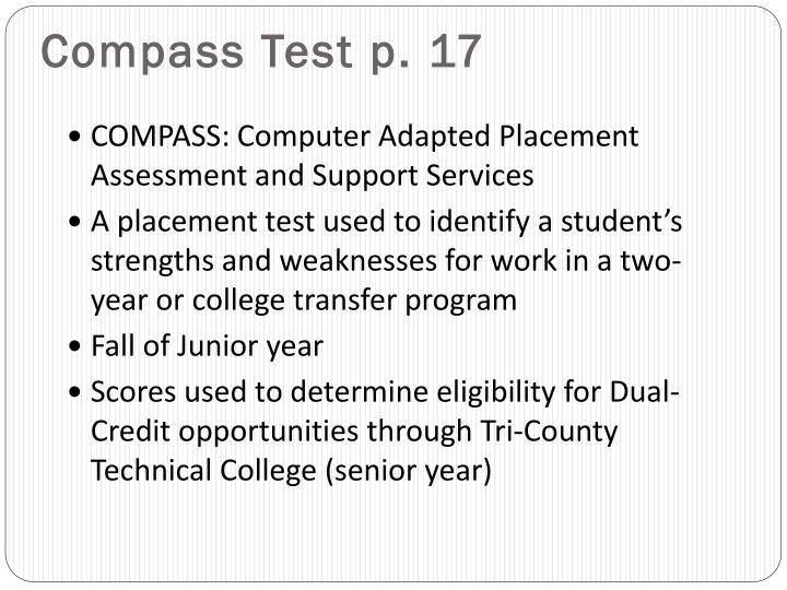 Compass Test p. 17