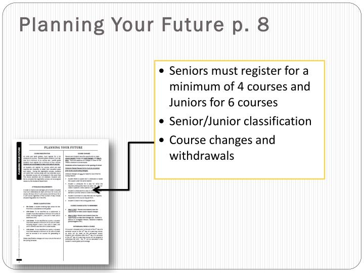 Planning Your Future p. 8