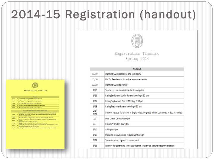 2014-15 Registration (handout)