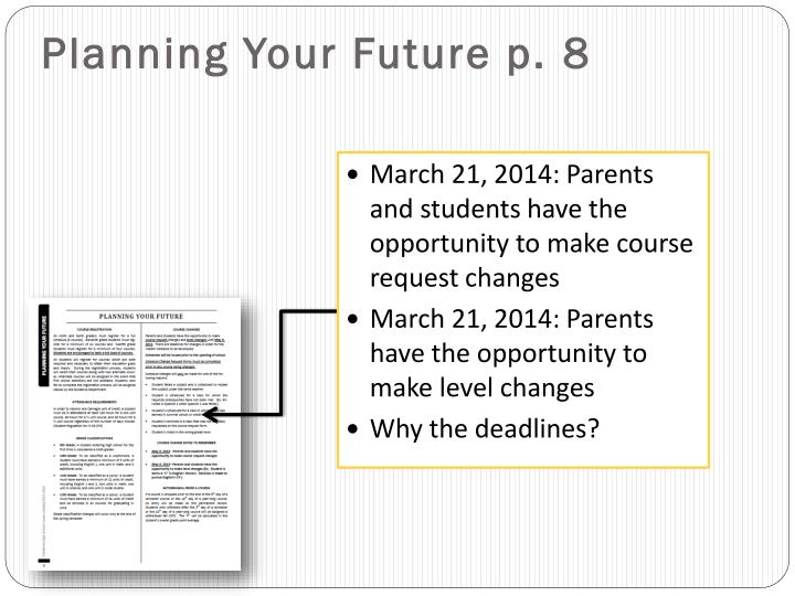 Planning Your Future p.