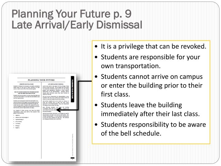 Planning Your Future p. 9