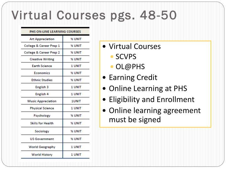Virtual Courses pgs. 48-50