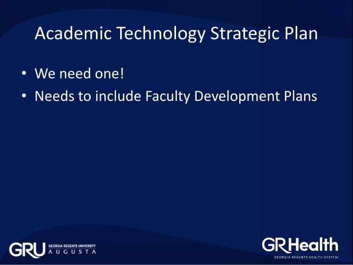 Academic Technology Strategic Plan