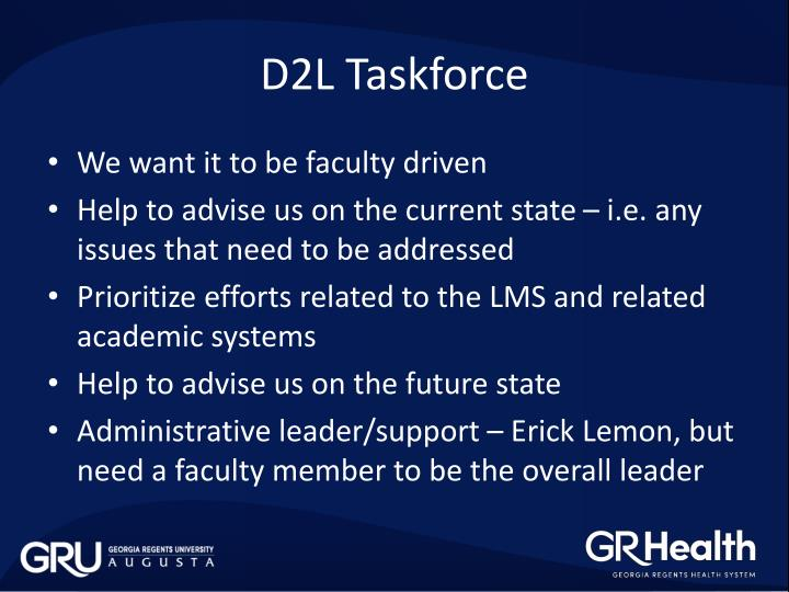 D2L Taskforce