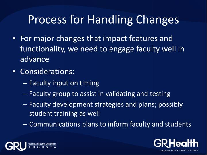 Process for Handling Changes